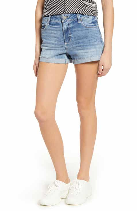 PAIGE Vintage - Jimmy Jimmy Cutoff Denim Shorts (Strat) by PAIGE