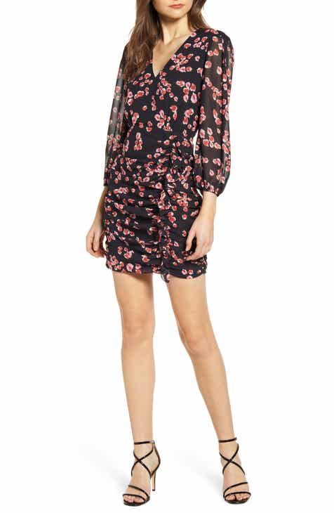 4d59be108f307 ASTR the Label Floral Long Sleeve Minidress