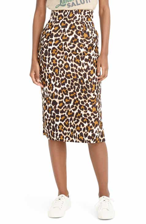 18051f38104 J.Crew Leopard Print Pencil Skirt