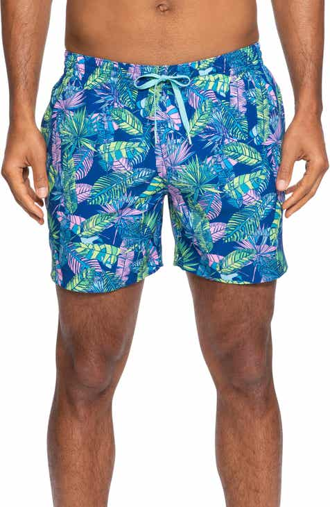 cbb5e0ad459 Chubbies Leaf of the Parties Print Swim Trunks
