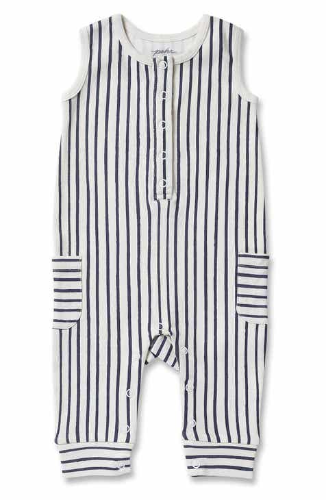 59a565427 Pehr Stripes Away Organic Cotton Romper (Baby)