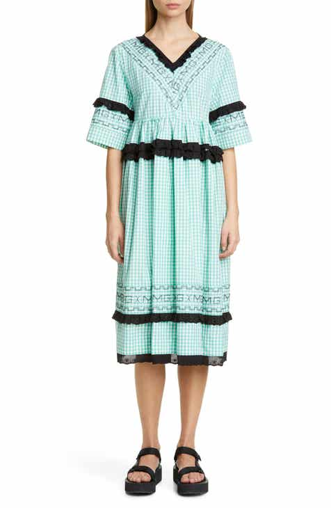 Molly Goddard Frank Gingham Midi Dress by MOLLY GODDARD