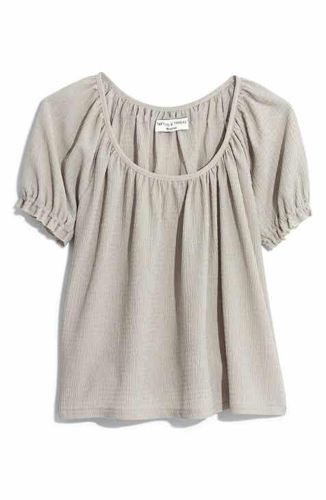10f90772c8c068 Madewell Texture   Thread Peasant Top (Regular   Plus Size)
