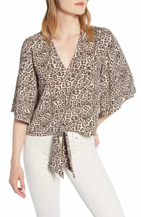 8b39968f7d56a STATE Tie Front Leopard Print Blouse