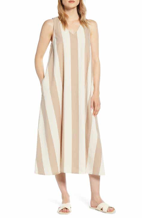 b08acb5cd42 Lou & Grey Stripe V-Neck Dress