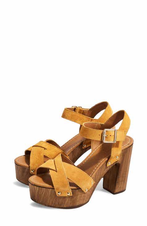 4a8cd136b39 Topshop Vanessa High Heel Clog Sandal (Women)