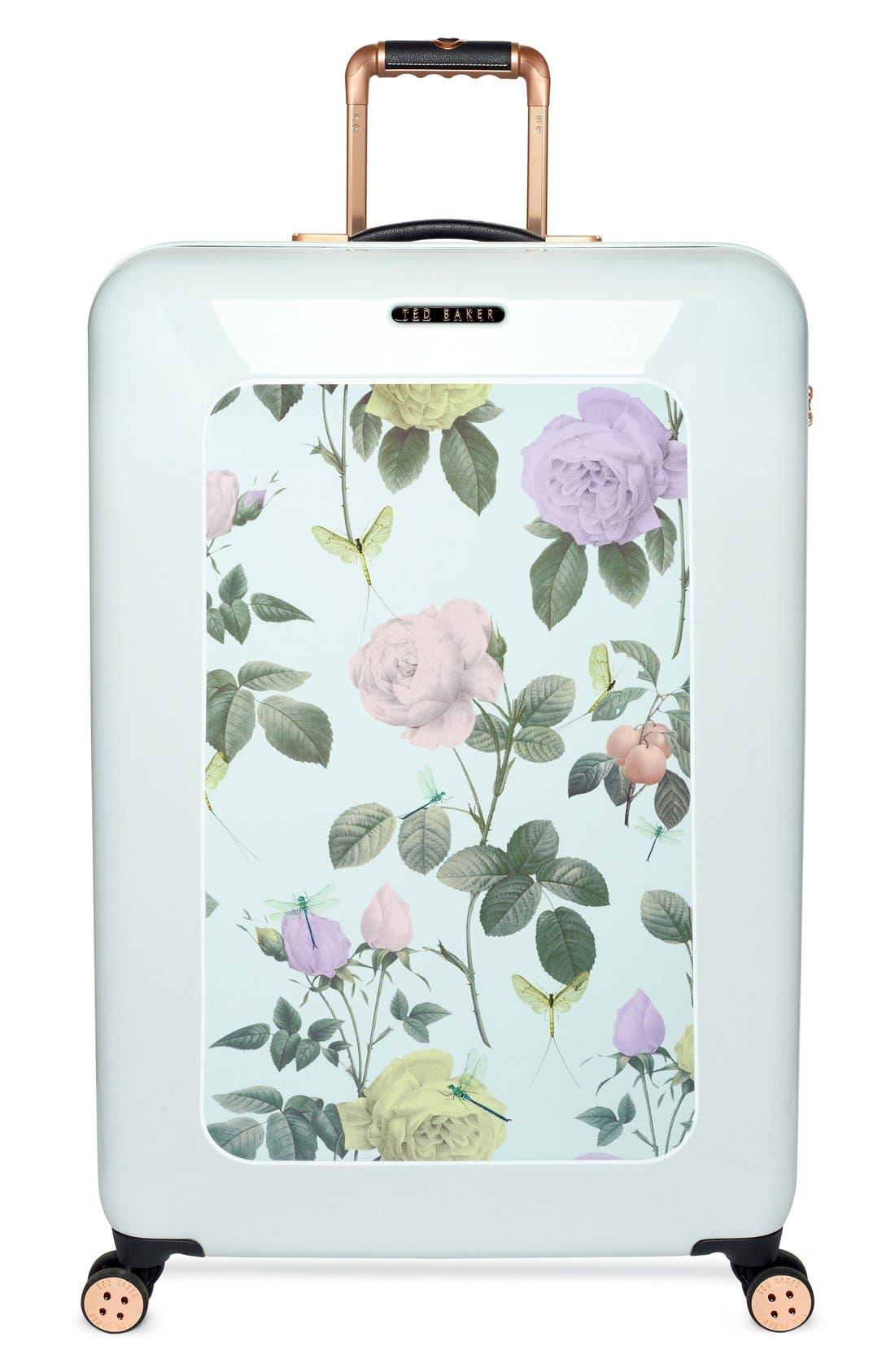 Main Image - Ted Baker London 'Large Rose' Hard Shell Suitcase (32 Inch)