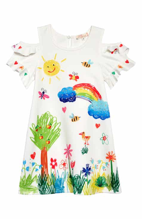 4e8949c93 Truly Me Colorful Drawing Cold-Shoulder Dress (Toddler Girls & Little Girls)