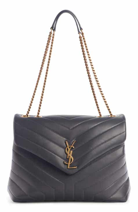 10c7e79a706e87 Saint Laurent Medium Loulou Matelassé Leather Shoulder Bag