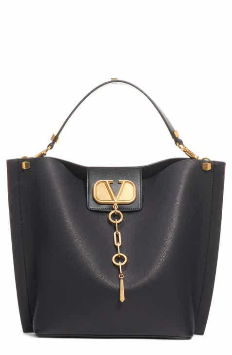 29dae86b366 VALENTINO GARAVANI Go Logo Escape Leather Hobo Bag