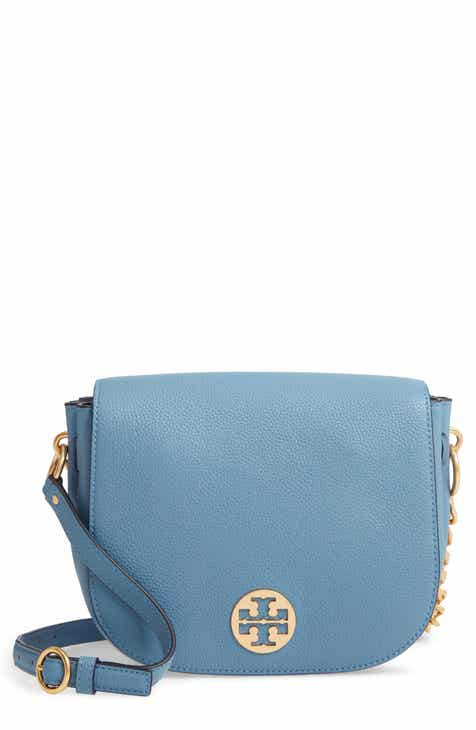 a270207fa81 Tory Burch Everly Leather Flap Saddle Bag