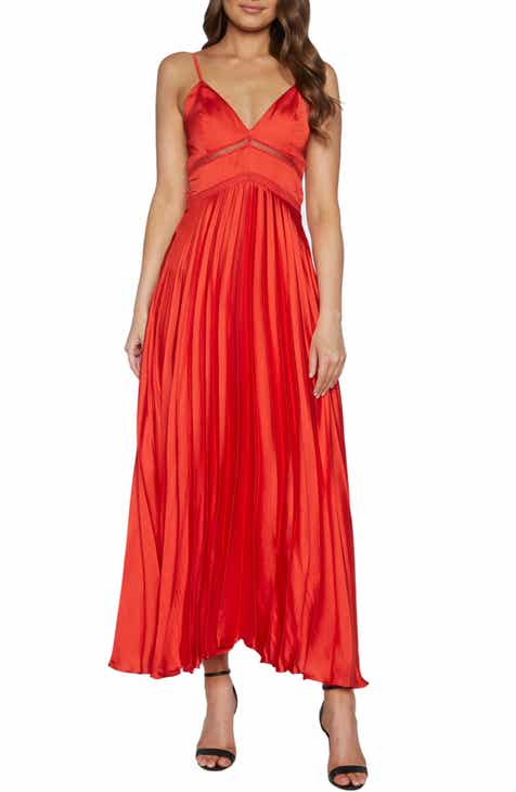 Bardot Mary Pleated Gown