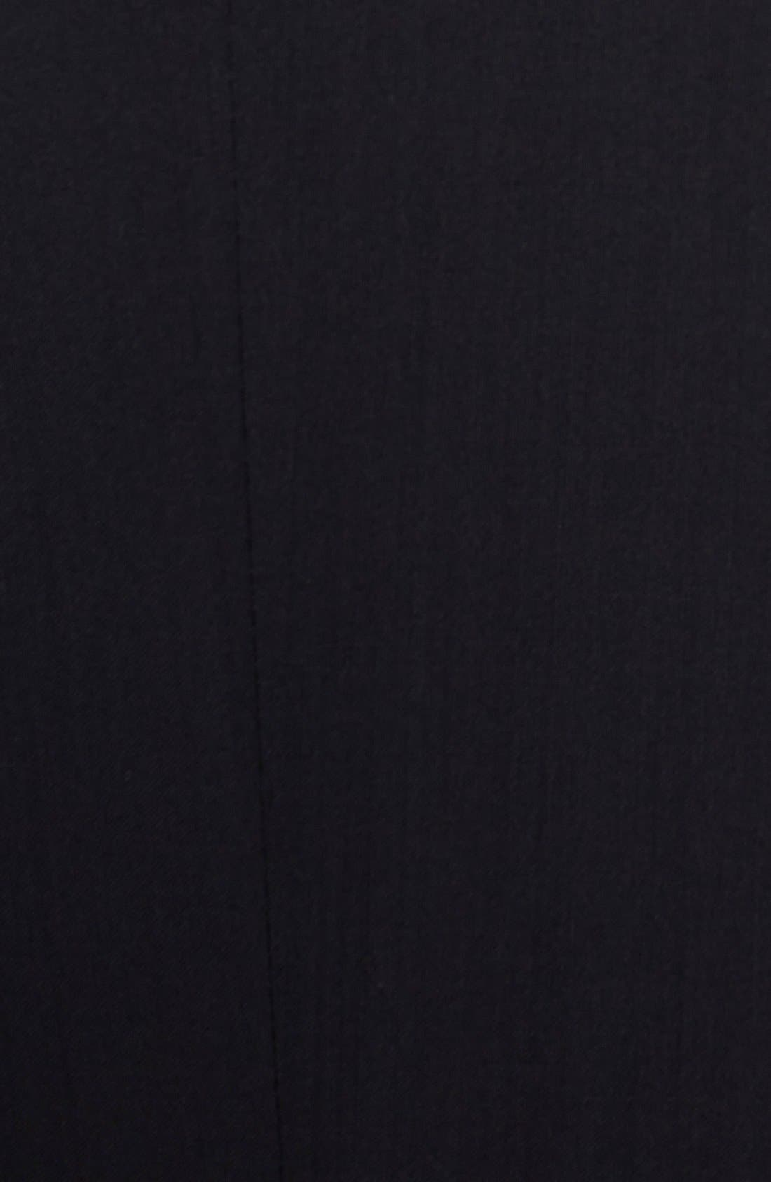 The Stars/Glamour Trim Fit Wool Tuxedo,                             Alternate thumbnail 6, color,                             Black