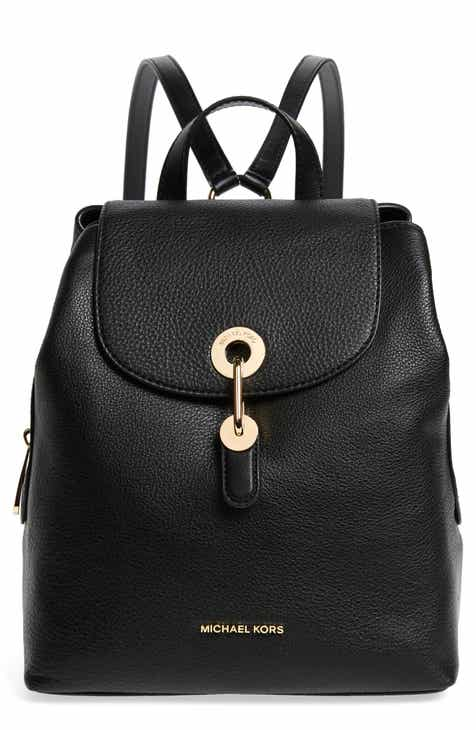 b228ff60a7fc MICHAEL Michael Kors Raven Leather Backpack