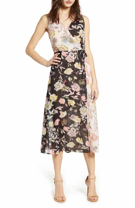 357ebac3f3a8 Leith Floral Mix Faux Wrap Dress (Regular & Plus Size). $69.00. Product  Image