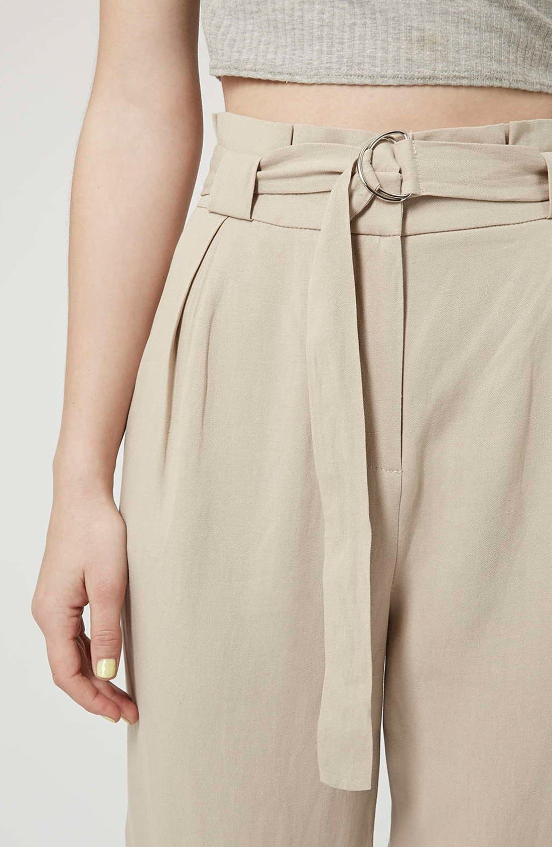 Alternate Image 4  - Topshop D-Ring Tapered Trousers