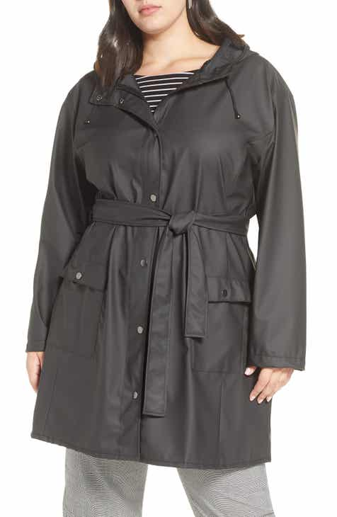 18c77e5cd0e Halogen® Coated Hooded Rain Jacket (Plus Size)