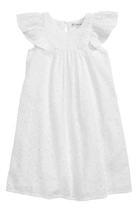 253119212cd Tucker + Tate Flutter Sleeve Eyelet Dress (Toddler Girls