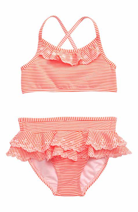 3445f94eda Boden Pretty Two-Piece Swimsuit (Toddler Girls, Little Girls & Big Girls)
