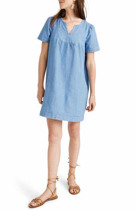 Madewell Denim Popover Swing Dress