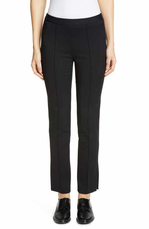 Partow Side Slit Skinny Stretch Cotton Pants by PARTOW