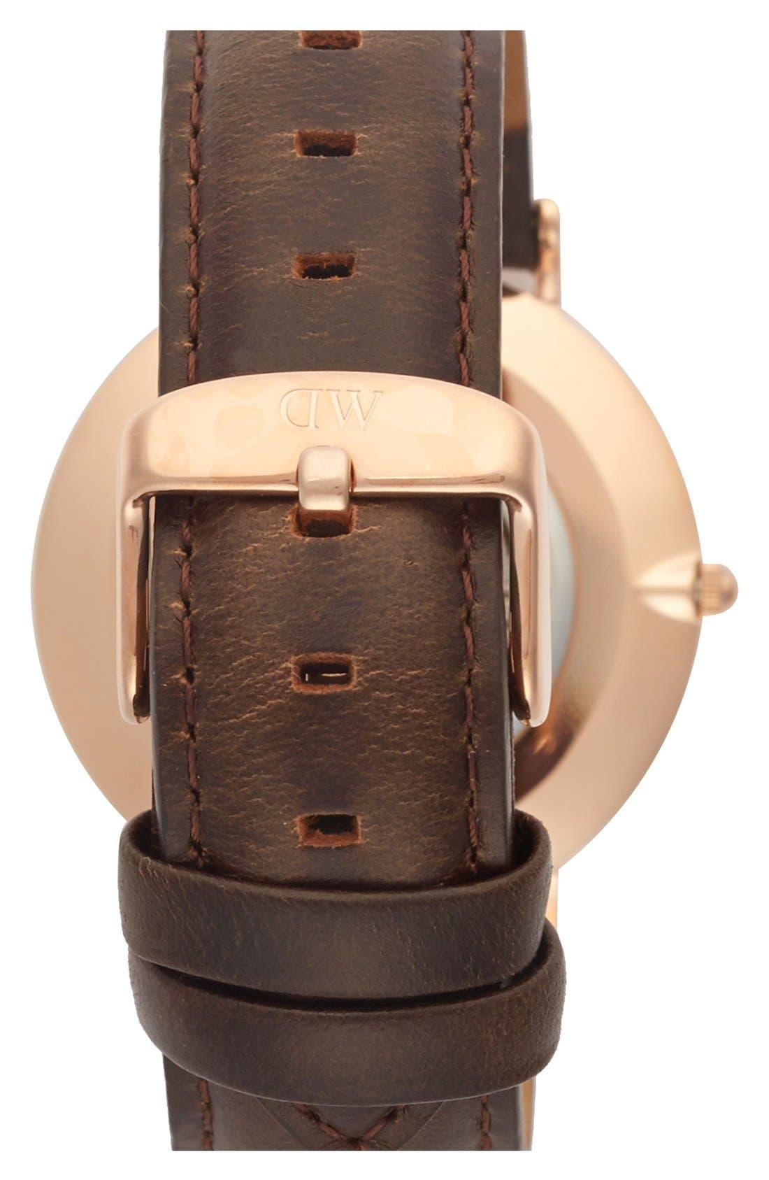 Alternate Image 3  - Daniel Wellington 'Classic Bristol' Round Leather Strap Watch, 36mm