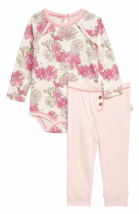f63f944ea Burt's Bees Baby Wildflower Bunch Organic Cotton Bodysuit & Leggings Set ( Baby)