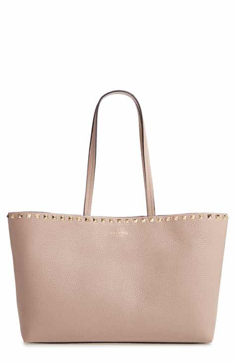 263bc4db95392b VALENTINO GARAVANI Small Rockstud Leather Tote