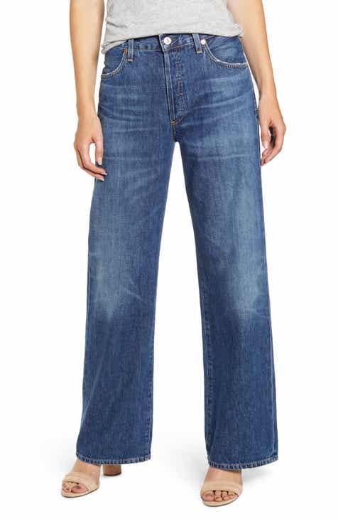 aa31e68050 Citizens of Humanity Flavia High Waist Wide Leg Jeans (Blue Rose)