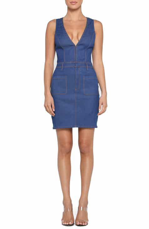 Tiger Mist Noah Belted Denim Minidress