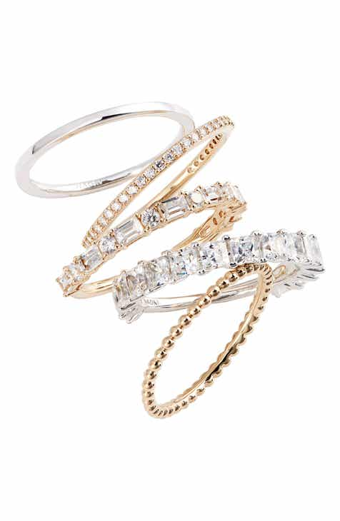 fcb934d3177a32 Nadri Set of 5 Stacking Rings