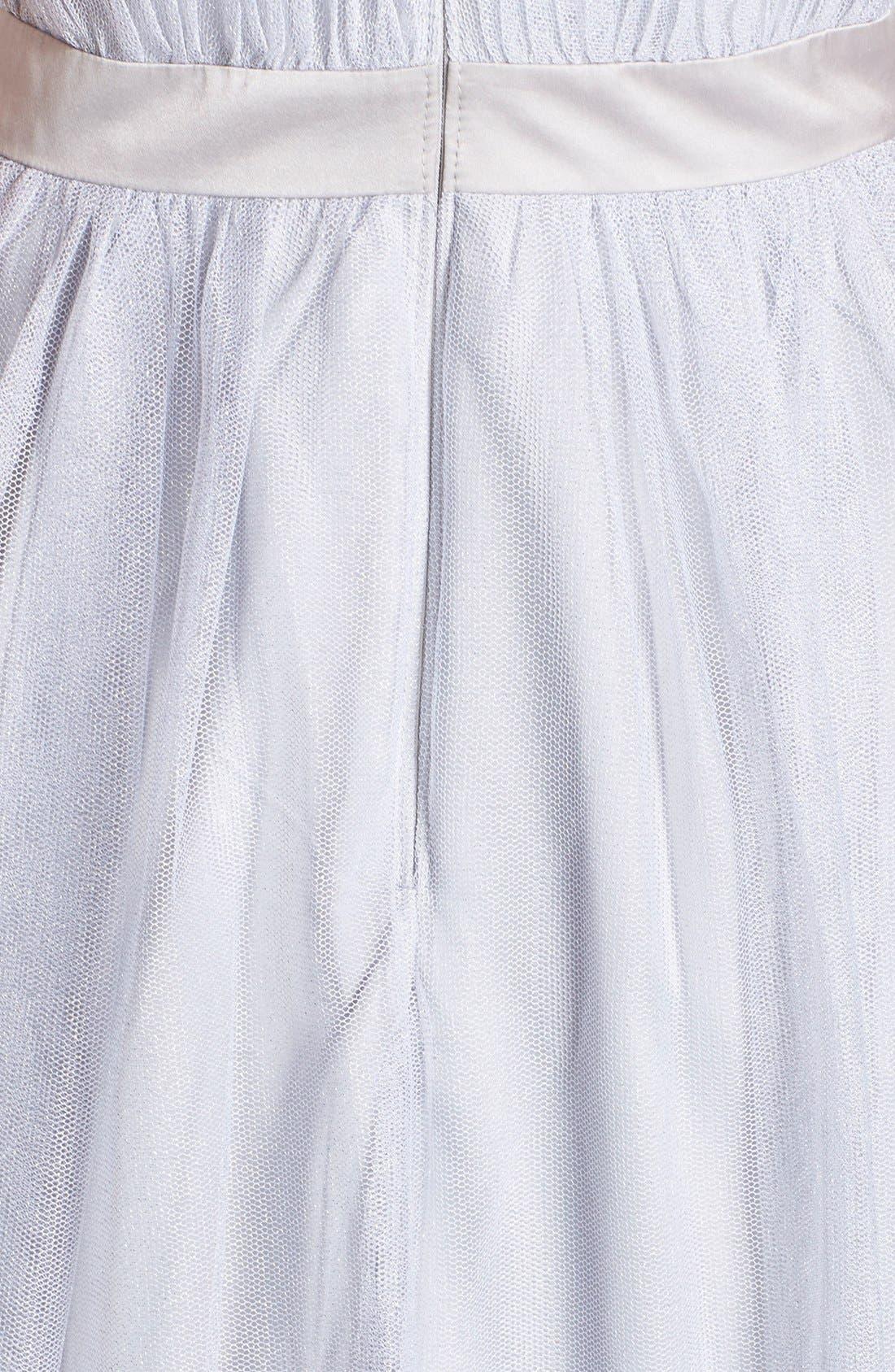 Alternate Image 3  - Aidan by Aidan Mattox Shimmer Mesh Fit & Flare Dress