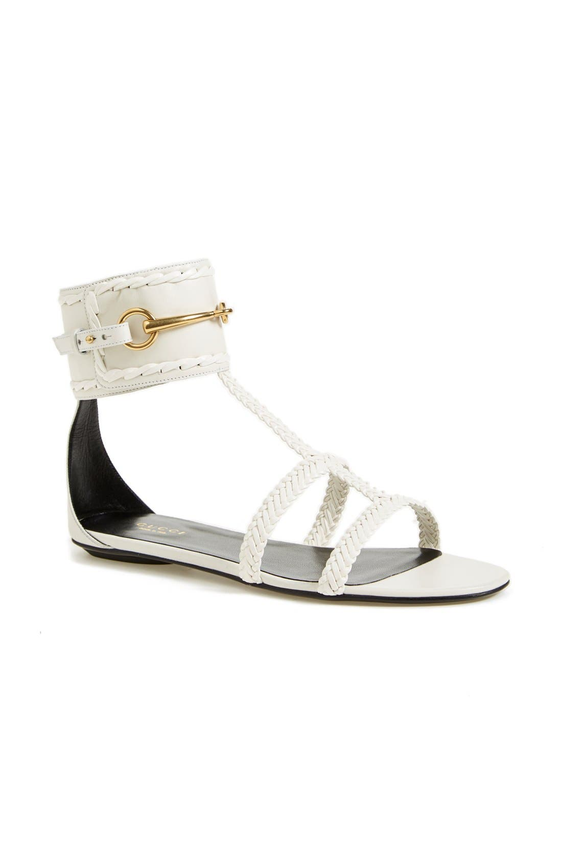 Main Image - Gucci 'Ursula' Braided Flat Sandal (Women)