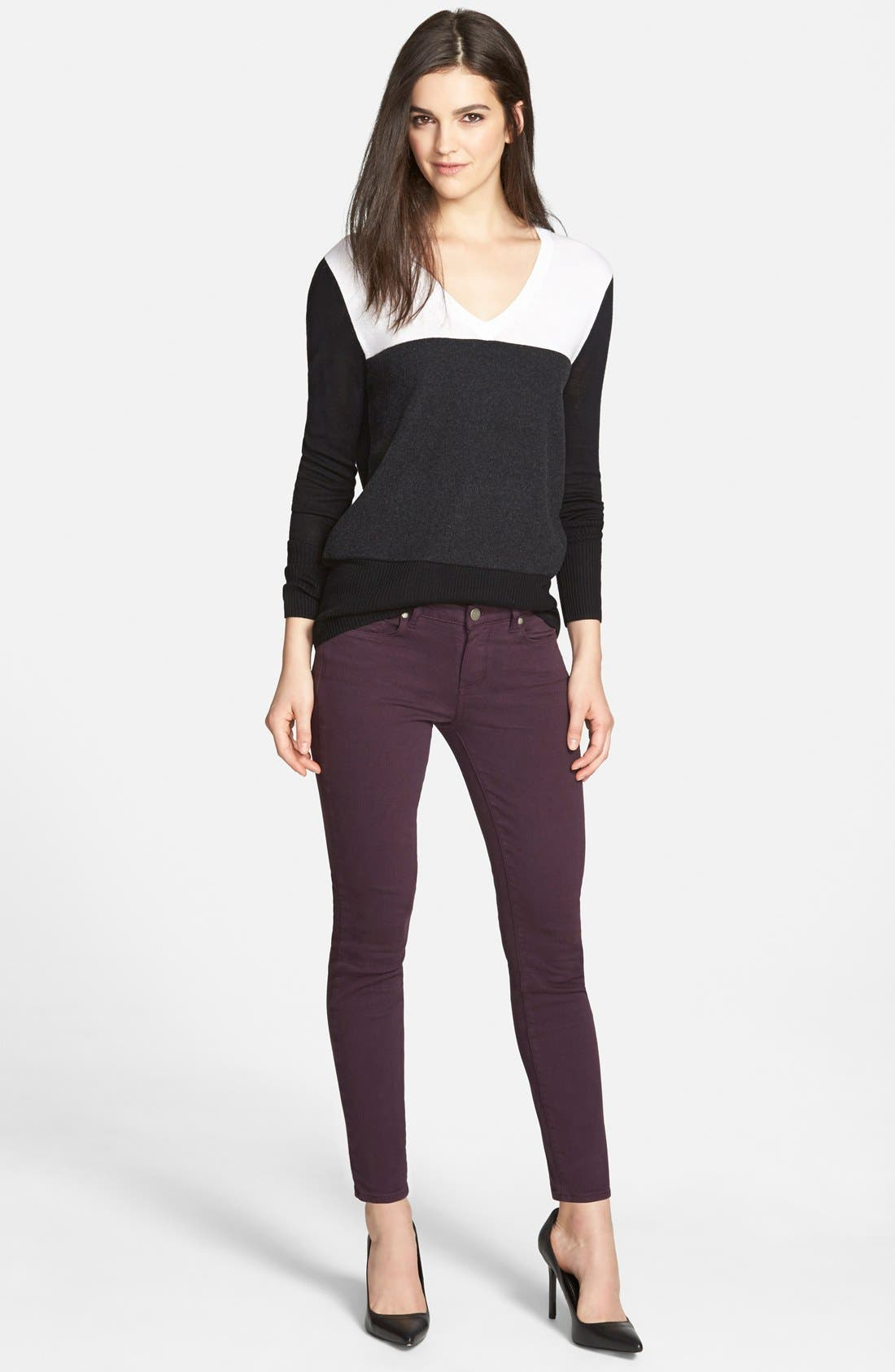 Alternate Image 8  - Paige Denim 'Verdugo' Ankle Skinny Jeans (Autumn Plum) (Nordstrom Exclusive)
