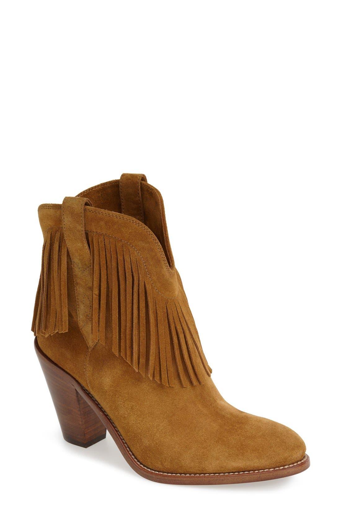 Main Image - Saint Laurent 'New Western' Fringe Boot (Women)