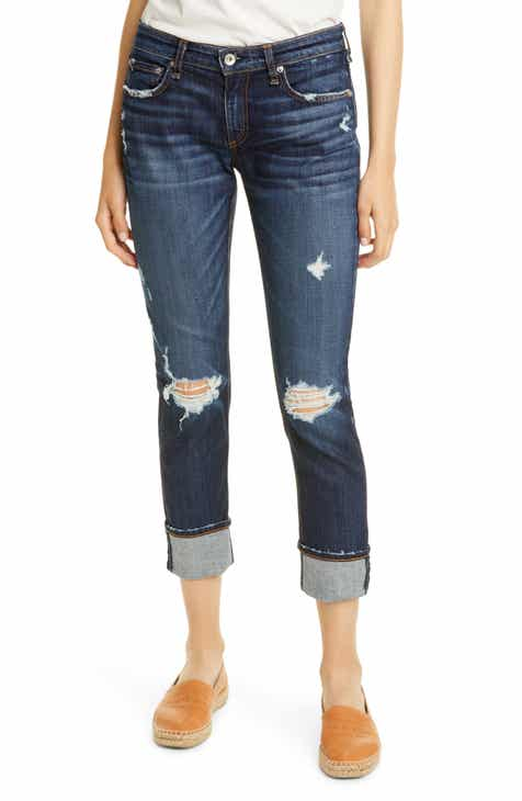 8dd3bc84 rag & bone The Dre Ripped Slim Boyfriend Jeans (Harper)