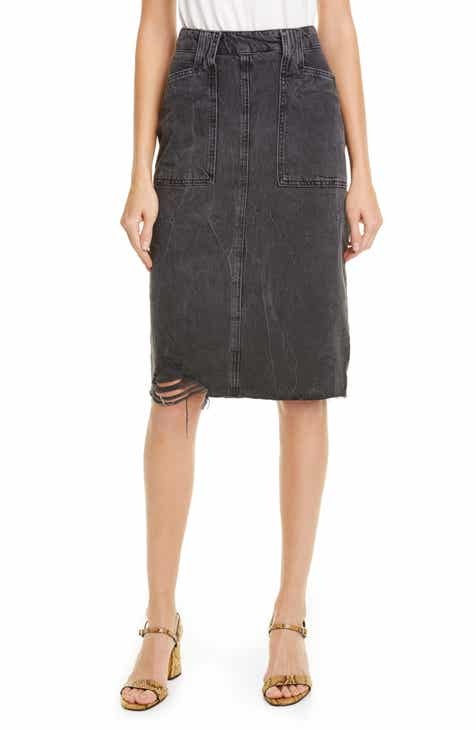 50da0a698 Free People Elisa Pencil Denim Skirt