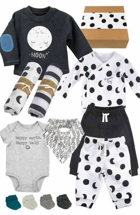 72d6a033eee37 Oliver & Rain 11-Piece Black & White Organic Cotton Clothing & Accessories  Gift Set (Baby)