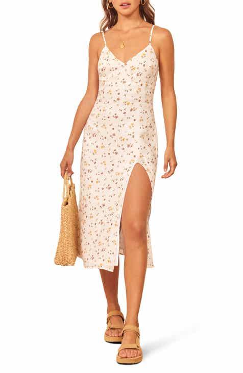 3106c67a96c0 Reformation Brianna Side Slit Linen Dress