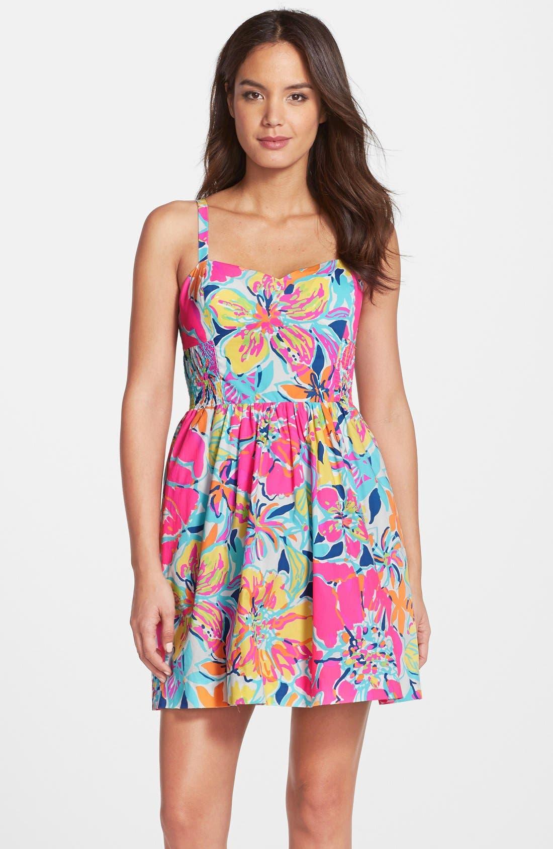 Alternate Image 1 Selected - Lilly Pulitzer® 'Christine' Print Poplin Fit & Flare Dress