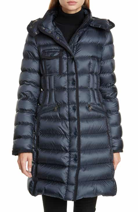 d4dce8e6ace Moncler Hermine Grosgrain Trim Quilted Down Puffer Coat