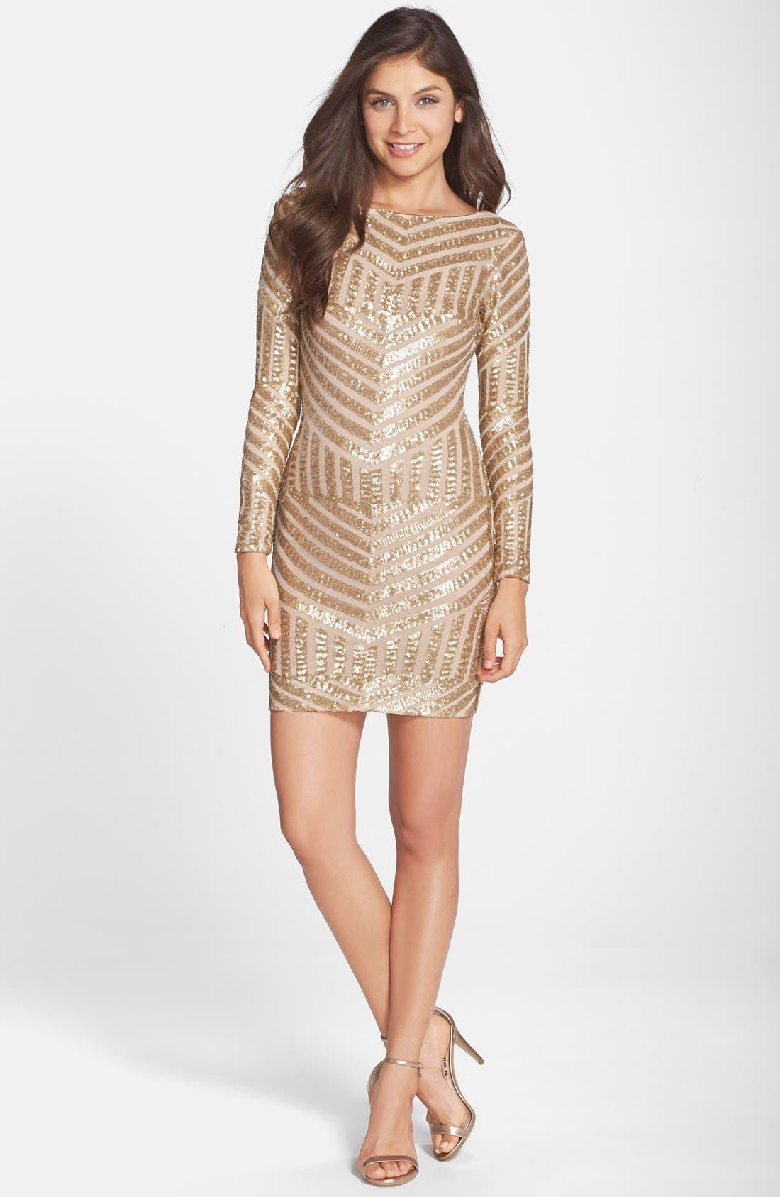 Alternate Image 3  - Dress the Population Lola Sequin Body-Con Dress