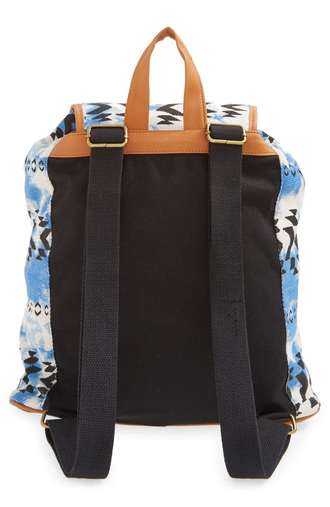Alternate Image 4  - Lulu Geo Print Canvas Backpack (Juniors)