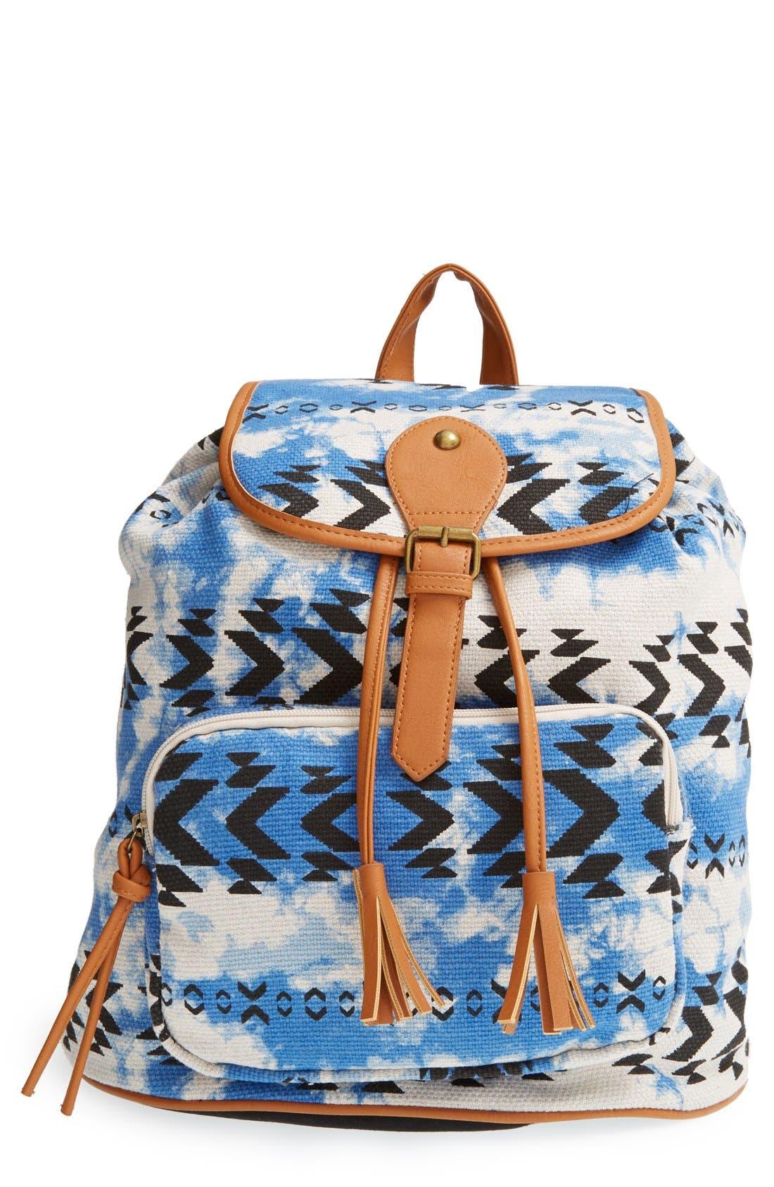 Alternate Image 1 Selected - Lulu Geo Print Canvas Backpack (Juniors)