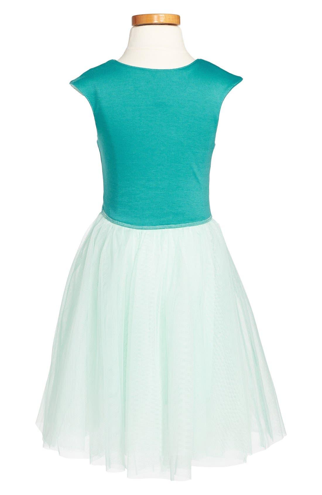 Sleeveless Mesh Tutu Dress,                             Alternate thumbnail 2, color,                             Aqua