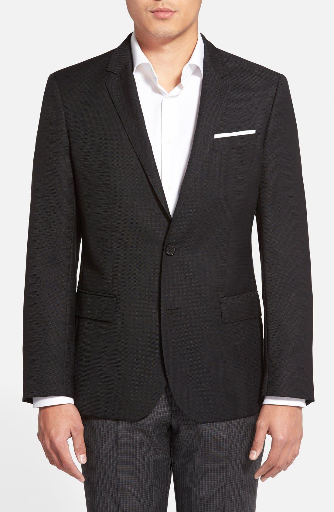 Hutch Trim Fit Wool Blazer,                             Main thumbnail 1, color,                             Black
