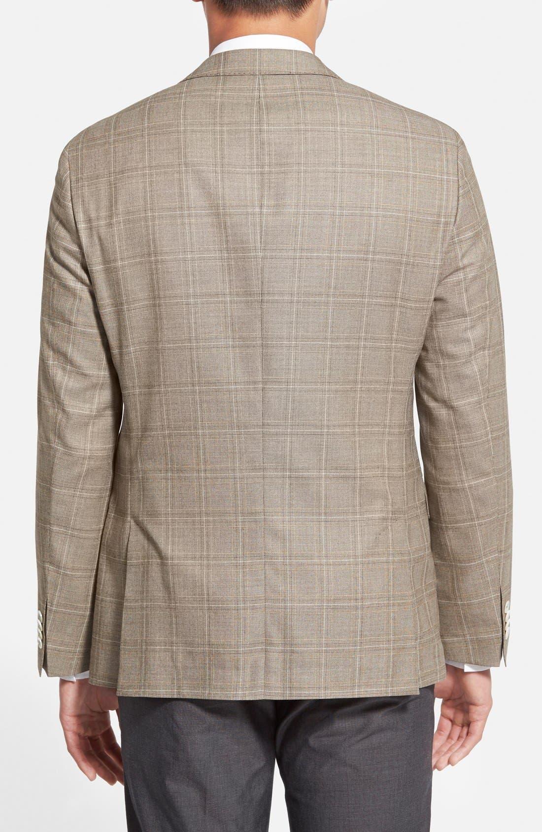 Alternate Image 2  - BOSS 'Jarett' Trim Fit Plaid Wool Blend Sport Coat