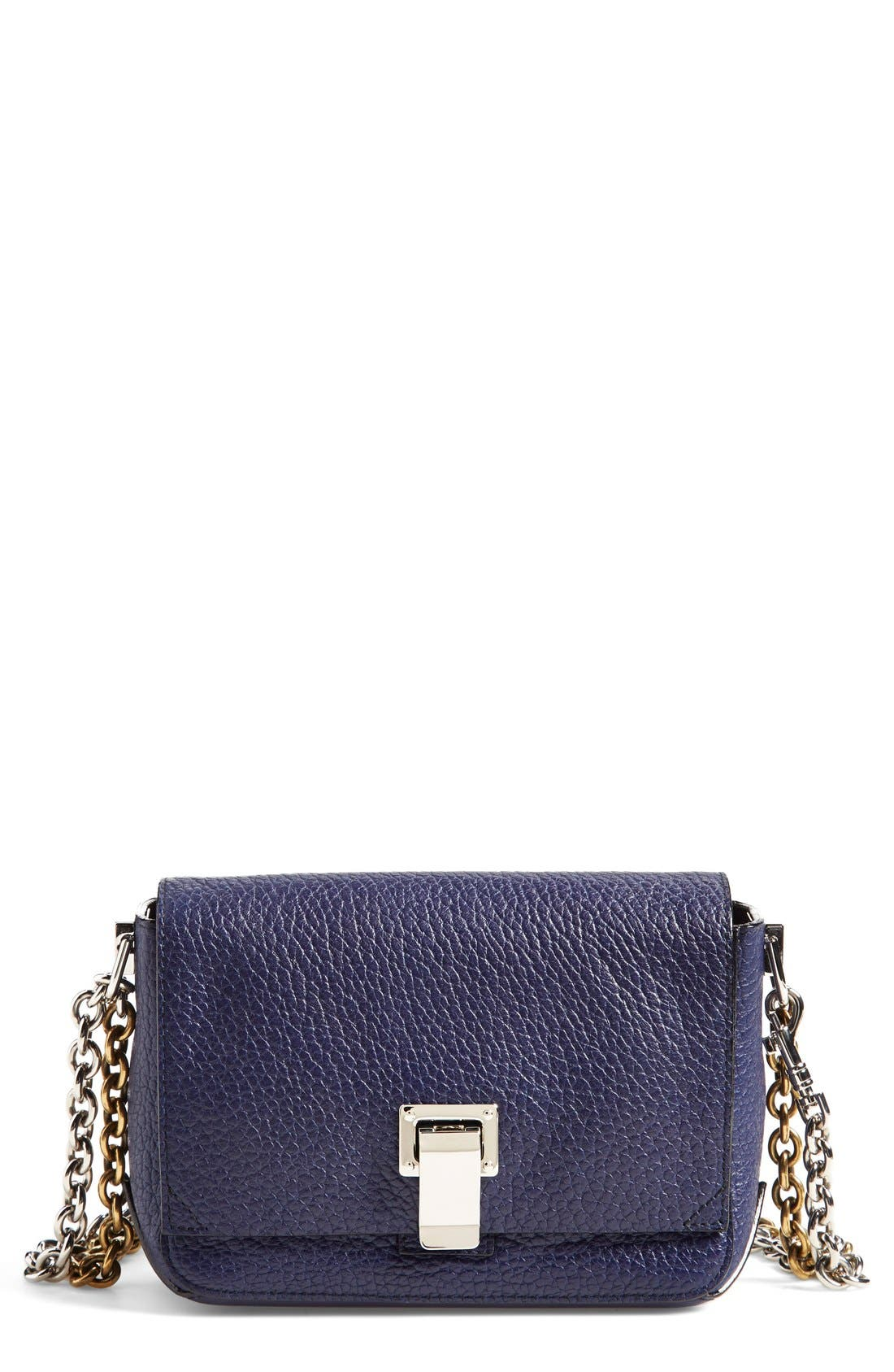 Alternate Image 1 Selected - Proenza Schouler 'Small Courier' Pebbled Leather Crossbody Bag