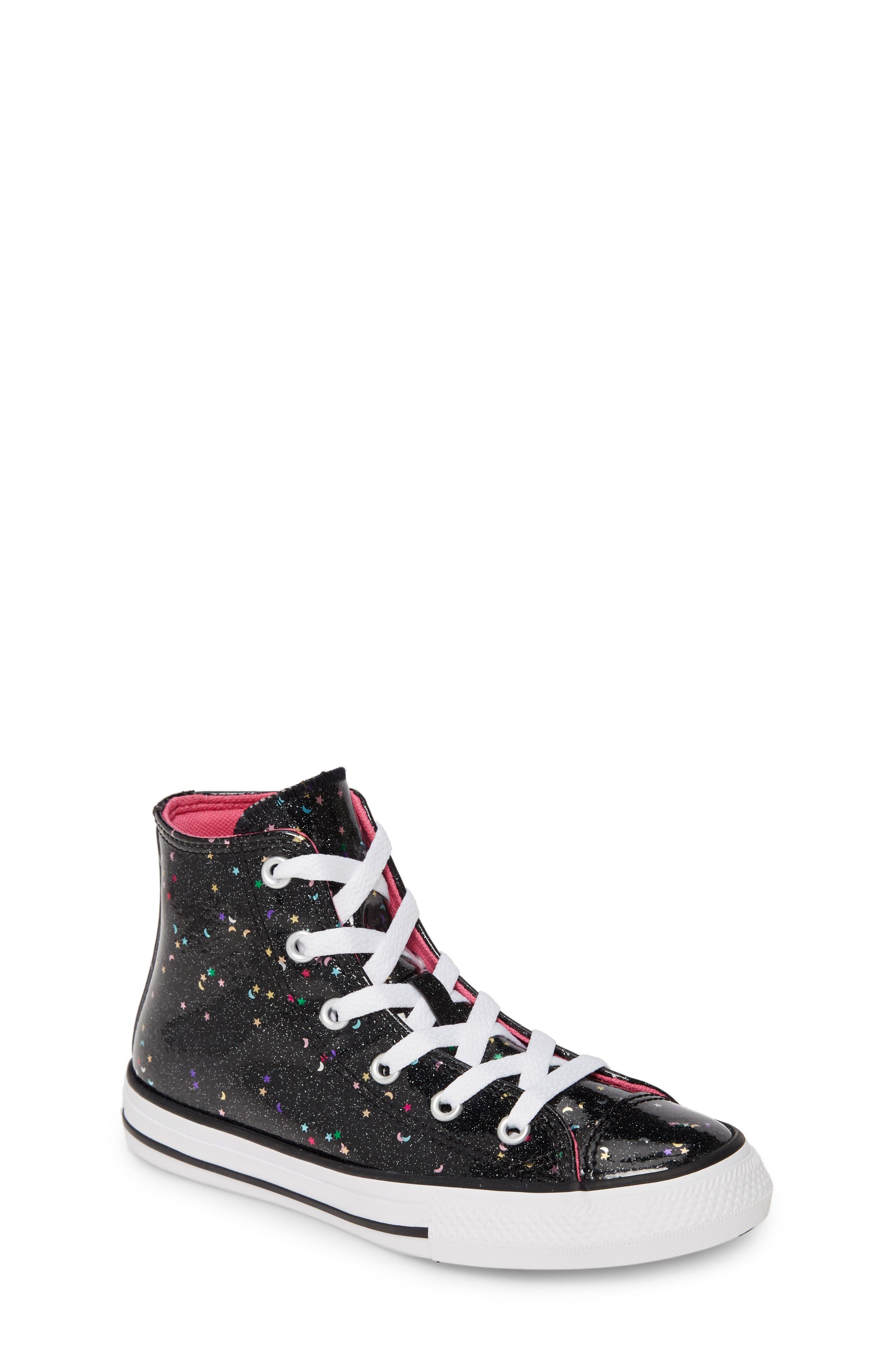 Converse Women's Converse X Chiara Ferragni 70 Hi One Star Glitter Platform Sneaker, Size 8 M Metallic from NORDSTROM | People