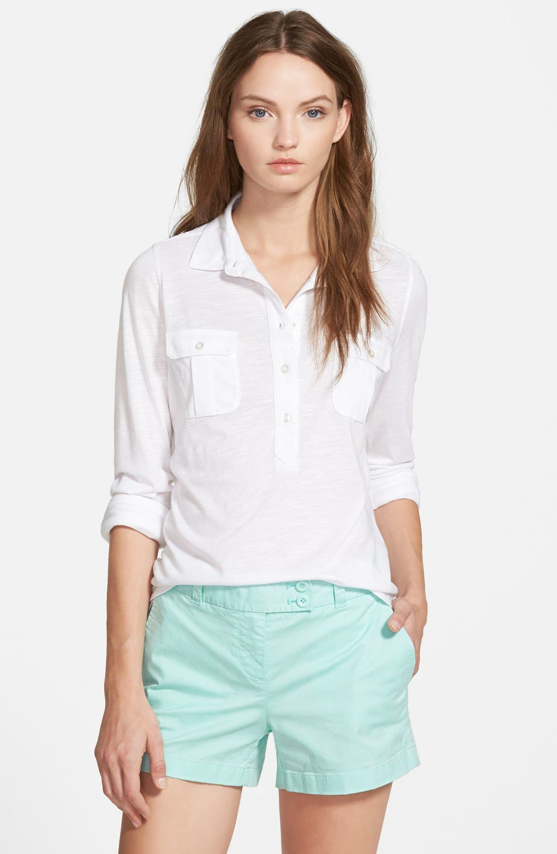 Alternate Image 1 Selected - Vineyard Vines Eyelet Yoke Top